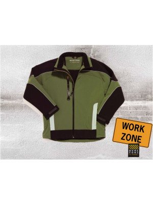 Work Zone Dreifarbige Softshelljacke Green Zone