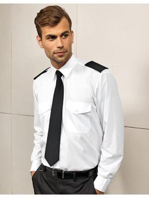 Piloten Hemd weiß langarm