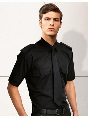 Pilothemd kurzarm schwarz