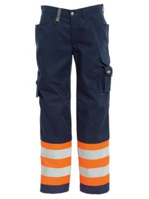 4828 44 HIVIS Damenbundhose orange marine