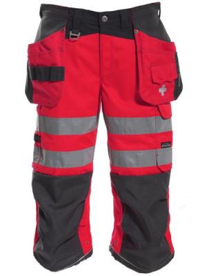 4099 45 ¾ Handwerker-Hose rot grau