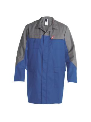 Safety+ Berufsmantel Azur/ Grau