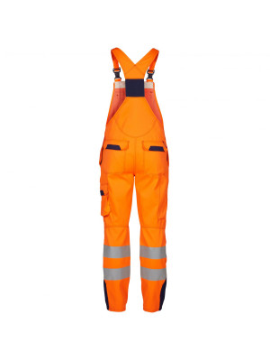 Safety+ Latzhose EN471 Orange/ Marine