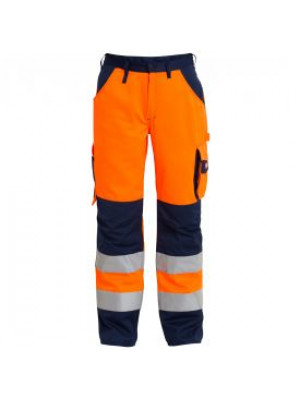 EN 20471 Bundhose Orange/Marine