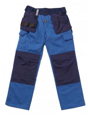 Work Zone Dreifarbige Handwerkerhose mit Holstertaschen Cobalt Zone