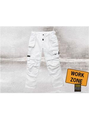 Tech Zone Zimmermannshose Weiß