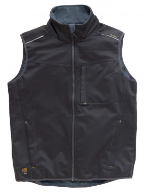 Tech Zone Softshell-Weste Dunkelgrau