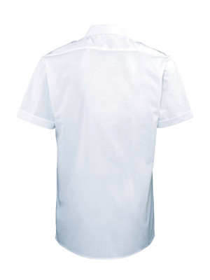 Pilothemd kurzarm hell weiß