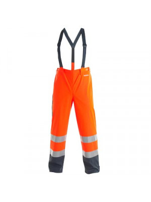 EN 471 Regenhose Orange/ Marine