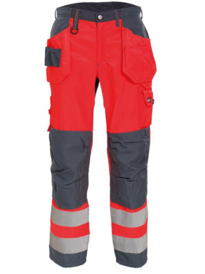 4859 44 HIVIS Handwerker-Damenbundhose rot grau