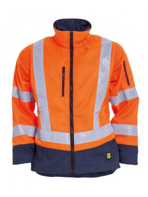 4839 44 HIVIS Damen Bundjacke orange marine