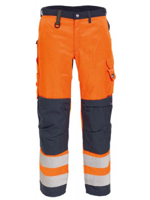 4829 44 HIVIS Damenbundhose orange marine