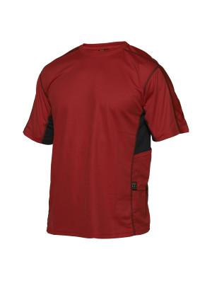 Technical T-Shirt Rot/ Schwarz