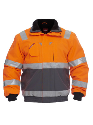 EN 20471 Pilotjacke Orange/ Grau