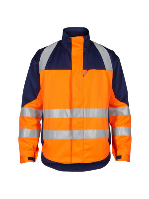 Safety+ Jacke Orange/ Marine