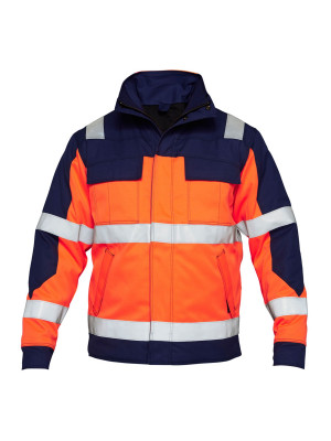 Safety+ Winterjacke EN 20471 Orange/ Marine