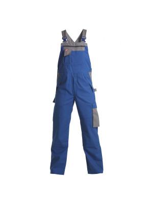 Safety+ Latzhose Azur/ Grau