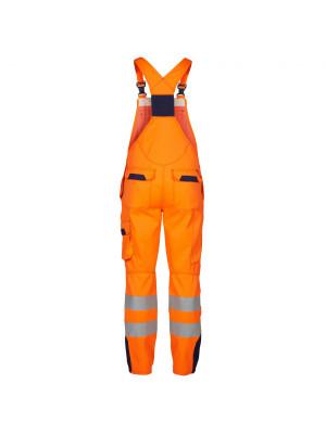 Safety+ Latzhose EN471 Orange/ Marine