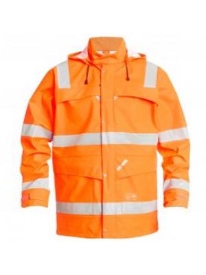 EN 471/EN 20471 Regenjacke Orange