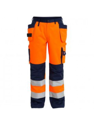 EN 20471 Bundhose mit Holstertaschen Orange/marine