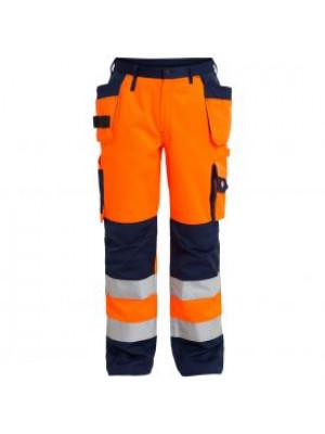 EN 20471 Bundhose mit Holstertaschen Orange/marine