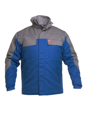 Safety+ Winterjacke Azur/ Grau